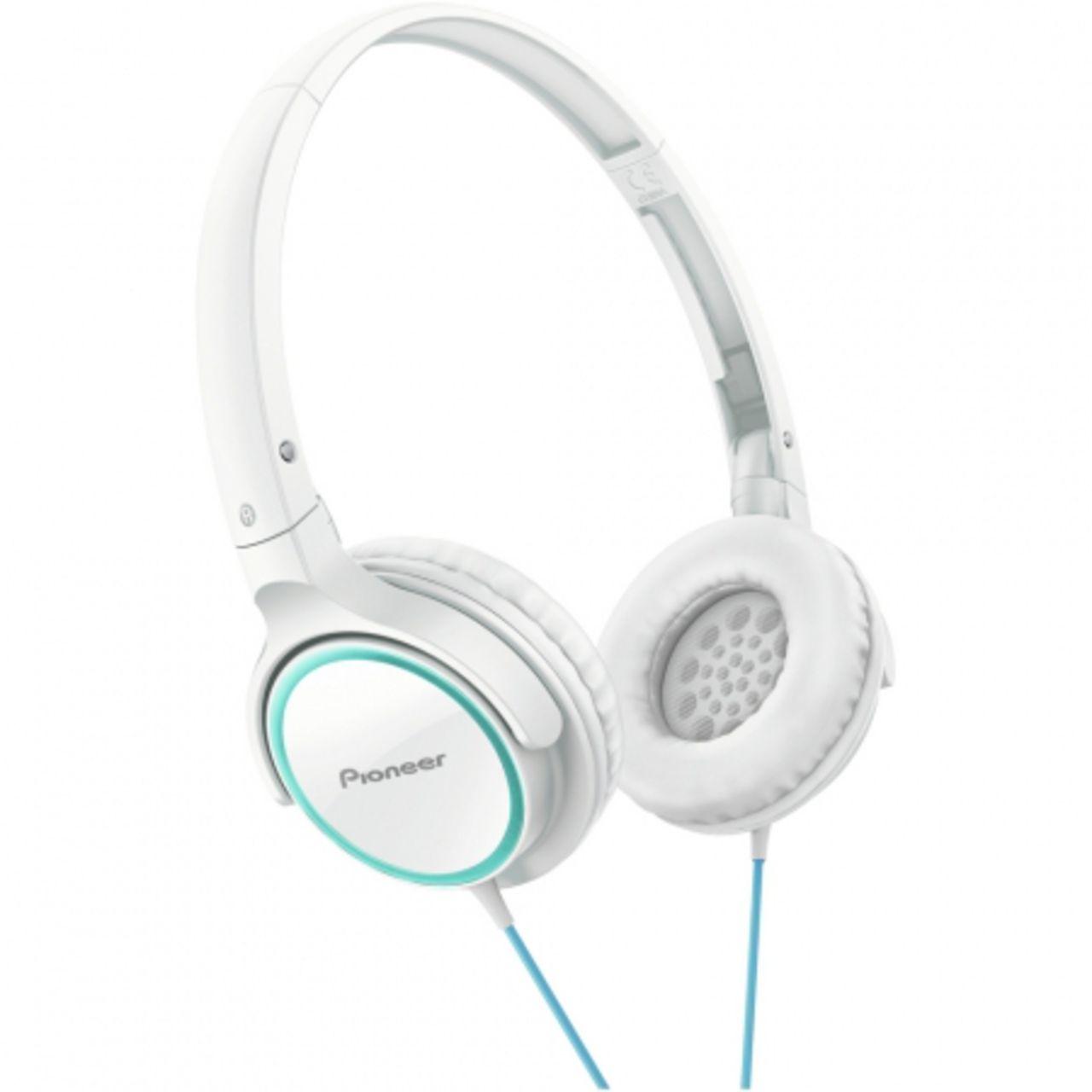 Pioneer SE-MJ512-GW - Over-ear koptelefoon - Turquoise / Wit
