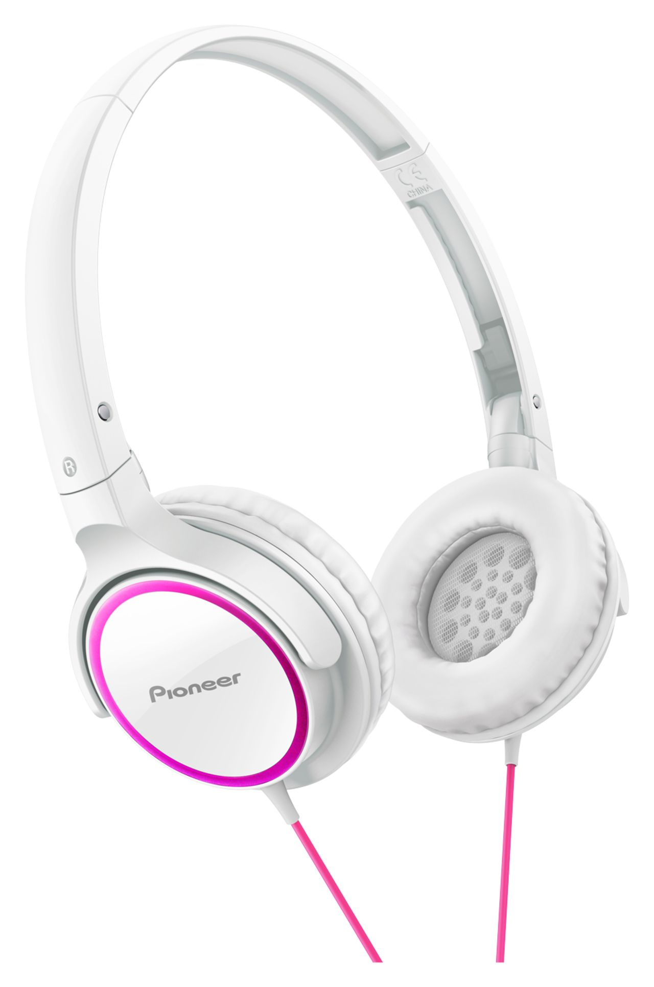 Pioneer SE-MJ512-PW - Over-ear koptelefoon - Roze / Wit