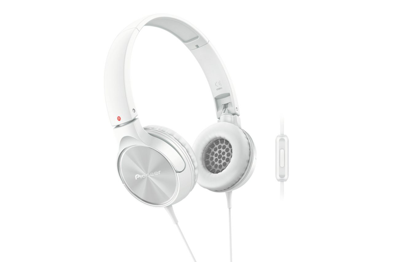 Pioneer SE-MJ522T-W On-ear Koptelefoon wit