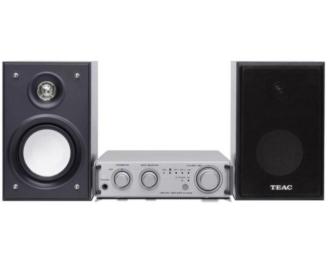 TEAC: HR-S101 DAC/Versterker Zilver / Zwart